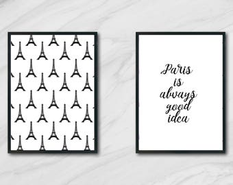 Paris is always good idea art printable