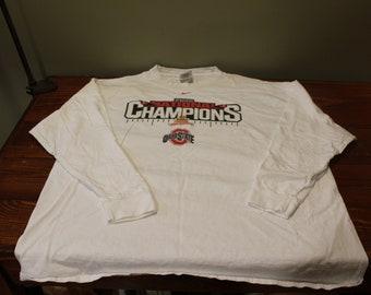 2002 Nike Ohio State National Championship Long Sleeved T Shirt