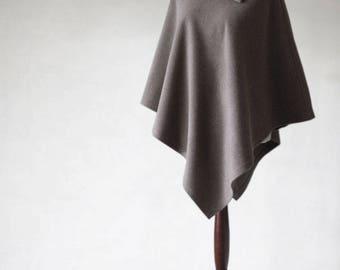 Cashmere poncho, beige poncho, beige coat, women's coat, wool coat, women's poncho,women's cape,wool poncho,women's sweater,cashmere sweater