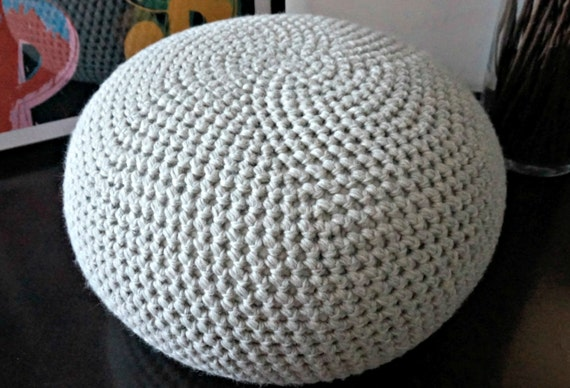 Pouf Häkeln stuffed xl crochet pouf in 47 colors poof ottoman