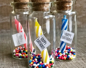 Birthday in a Little Bottle! Gift or invitation Custom card