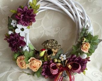Easter wreath, Spring wreath, wreath on the wall, wreath on the door