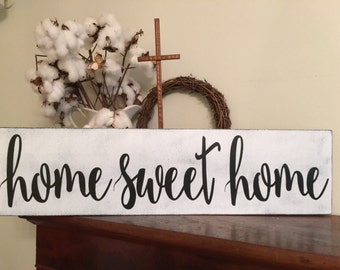Home Sweet Homesign,Fixer Upper Inspired Signs,30x7.25, Rustic Wood Signs, Farmhouse Signs, Wall Décor