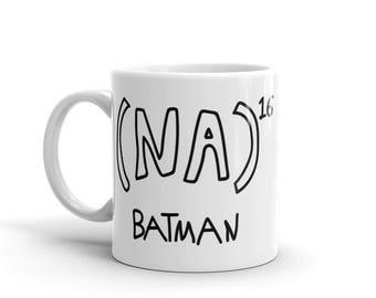 NA to the 16th power Batman Math Equation Mug