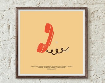 LOST print, Lost TV Show, 4 8 15 16 23 42, ABC's Lost, Nerd Print, Art Print, Illustration, Penny + Desmond, Losties, Wall Art, Home Decor