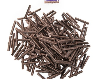 40mm or 1 9/16 inch Antique Copper Ribbon Clamps End Crimps in Bulk - Artisan Series - 500 pieces
