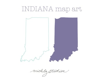 Vector & PNG Indiana clipart, map clip art, state, country, silhouette