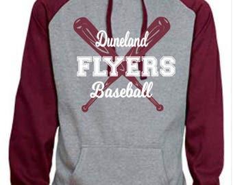 Duneland Flyers Baseball Spirit Wear Hooded Sweatshirt