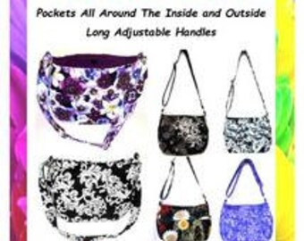 Adjustable Handles,Sewing Purse Pattern, Medium Purse, Fabric Purse Pattern, Bag for Women, Handmade Purse Pattern, Made in Colorado, Sew