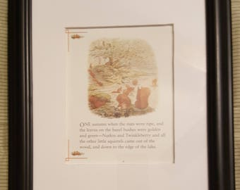 Nutkin and Twinkleberry - The Tale of Squirrel Nutkin by Beatrix Potter - Aproximaitely 5 1/2 x 7 1/2 inches