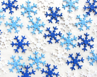100 Plantable Snowflakes Seed Paper Confetti - Winter Wedding Favors - Flower Seed Paper Snowflakes