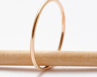 Gold Ring: Simple Thin Band, Minimalist Jewelry