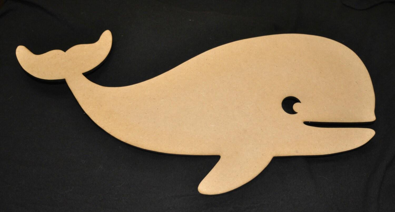 Large sizes Whale Wood Cutout Laser Cut Animal Shapes