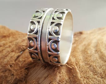 Mens Gallery Wire Wide Band Ring Size 11.5