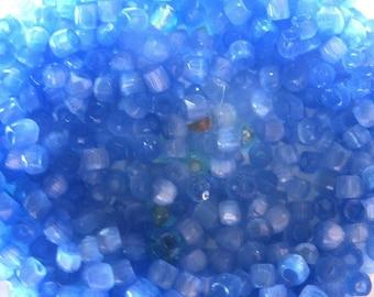 5 GRAMS OF BEADS 2 MM ROUND BLUE ULTRAMARINE JASPEES