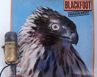 "Blackfoot (with Rickey Medlocke) Vinyl Record Album LP 1980s Native American Roots Southern Rock Guitar Jam ""Marauder"" (1981 Atlantic)"