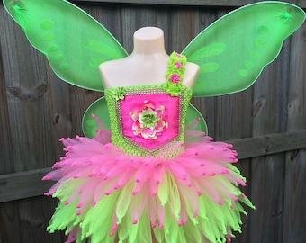 Tinkerbell costume, Tinkerbell dress, fairy tutu dress, Fairy tutu, fairy costume, tinkerbell tutu, green fairy costume, pink fairy