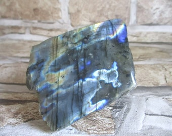 Labradorite Crystal Specimen, Semi Polished Labradorite, Natural Rough Raw, Mineral Gemstone Specimen, Iridescent Labradorite, Reiki Healing