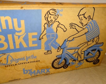 1971 Tiny Bike by Marx. STILL FACTORY SEALED. Never Opened, Never Used
