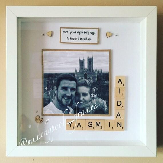 Couple Photo Frame Handmade Personalised Scrabble Frame