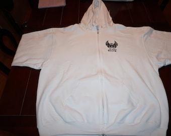 "Route 91 White ""Warrior"" Zip-Up hoodie"