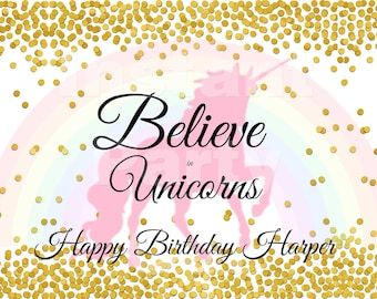 Unicorn sign | Believe in Unicorns sign | Unicorns and rainbows