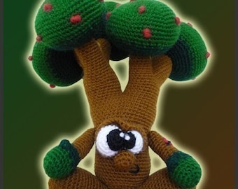 Amigurumi Pattern Crochet Mr Tree Doll DIY Instant Digital Download PDF