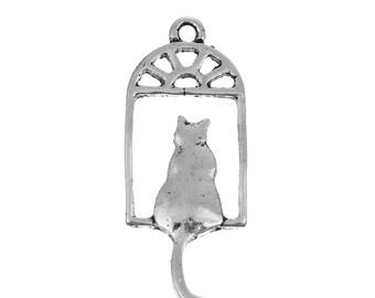 Cat in Window Charm - Clip-On - Ready to Wear