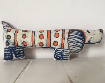 Hand printed decorative Dachshund dog, the perfect gift for the doxie lover