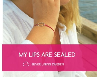 My Lips Are Sealed, Friendship Bracelet, Silver Bracelet, Dainty Bracelet, Minimalistic Bracelet, Gift for Her, Bridesmaid Gift