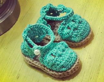 Baby Crocheted Espadrilles