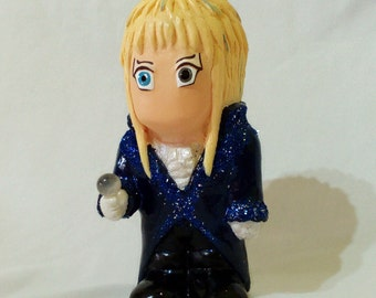 David Bowie Figure Labyrinth Doll Jareth The Goblin King statue decorative art baby