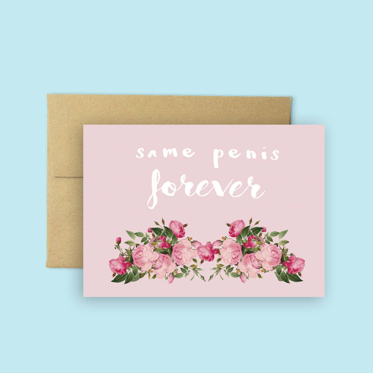 Same penis forever funny bridal shower card funny engagement zoom kristyandbryce Image collections
