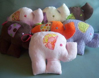Create Your Own-Elephant Minky Stuffie