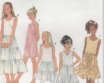 Girls Slip Pattern Camisole Size 7 -8 - 10 - 12 Uncut Simplicity 8681
