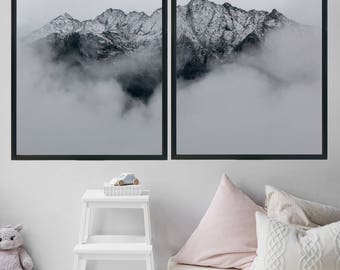 Large Wall Art Home Decor Office Decor Gift For Men Minimalist Poster Boyfriend Gift For Her Landscape Photography Mountain Print
