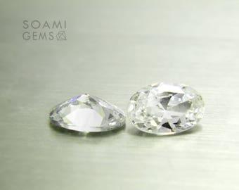 Loose Cubic zirconia white, 4x6, 5x7, 5x8, 6x9, 7x10, 9x11 mm oval cut transparent cubic zirconia faceted gem