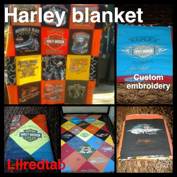 Harley Davidson Blanket t-shirt blanket, Tshirt blanket