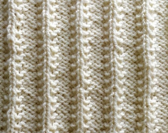 Knit Pattern Blanket Sampler Rib-It! Throw Part 2 PDF