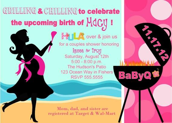 Digital babyq bbq pink hula girl barbecue baby shower filmwisefo