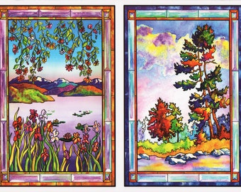 99 Nature Window Clings Stickers Kit