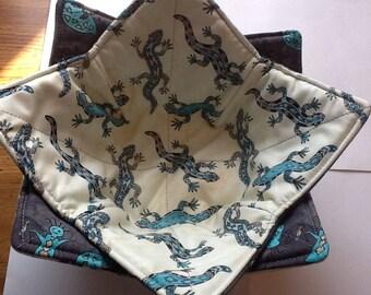 Microwave Bowl Cozy - Lizards/Kokopelli