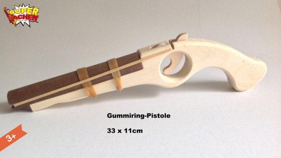 gummiband pistole aus holz f r kinder piraten handgemacht. Black Bedroom Furniture Sets. Home Design Ideas