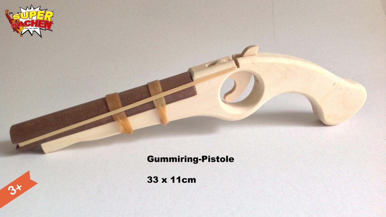 Rubber Band Gun Made Of Wood For Children Pirates Handmade