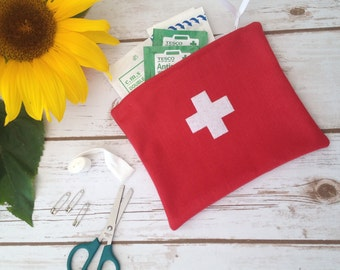 First Aid Bag Pouch Kit Medical  Baby Shower Camping Travel