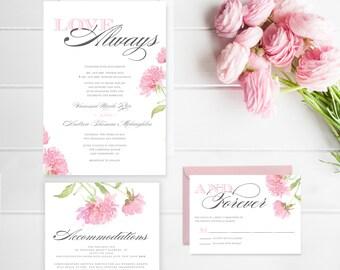 Love Always – Wedding Invitation (Digital file)