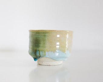 wakatake green blue matcha bowl [handmade in Japan]