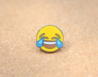Face With Tears of Joy Emoji Lapel Hat Pin