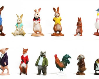 Mister A Gift Peter Rabbit set of 12 plastic Cake Toppers