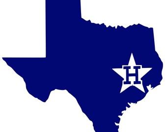 Digi-tizers Astros over Houston Texas Outline  (SVG Studio V3 JPG)